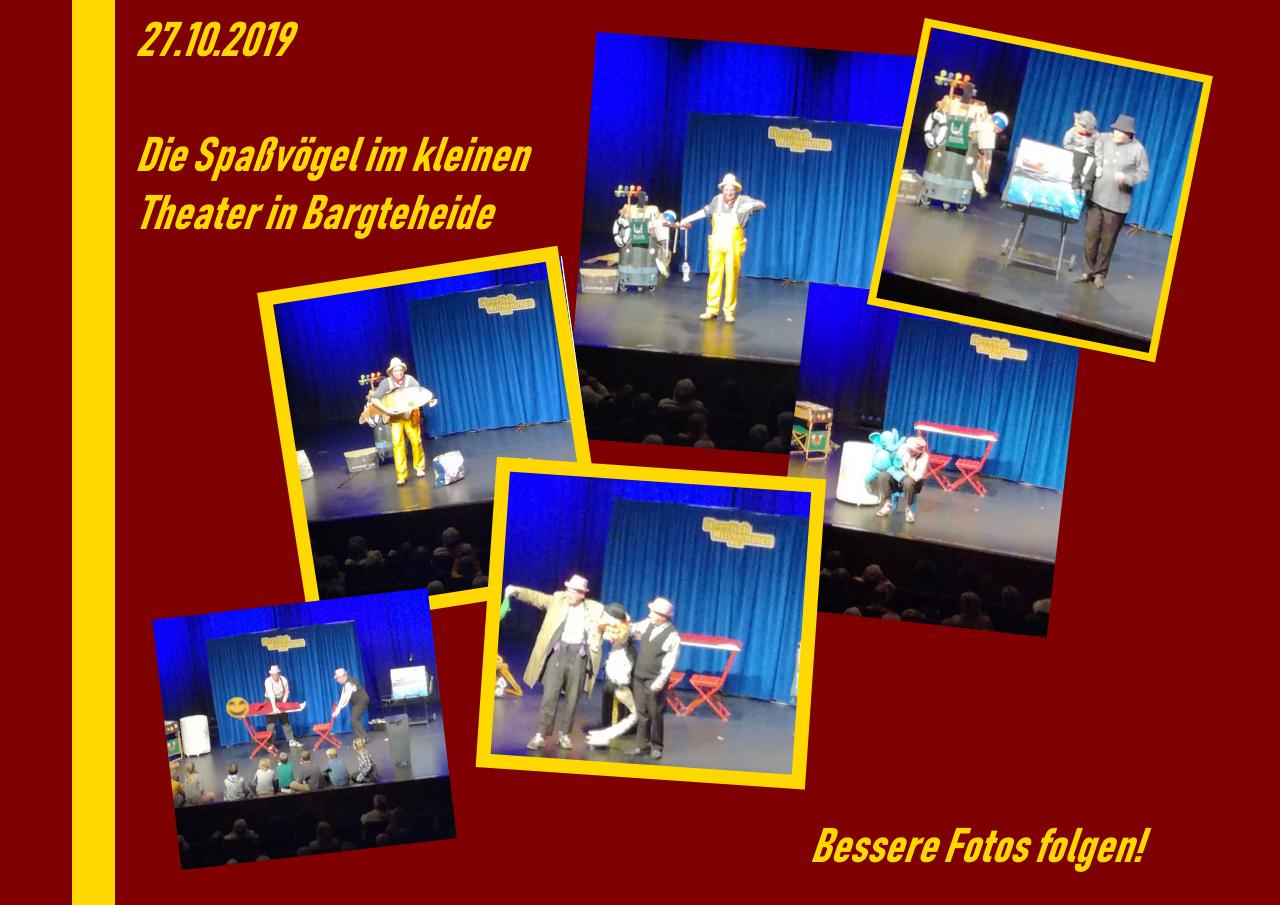 27.10.2019: Die Spaßvögel im Kleinen Theater in Bargteheide